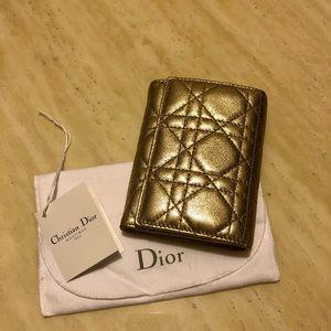 CHRISTIAN DIOR Lady Dior Cannage Pattern Wallet M